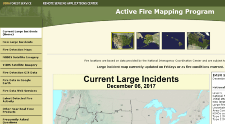 Visit Activefiremapsfsfedus Active Fire Mapping Program - Us active fire map