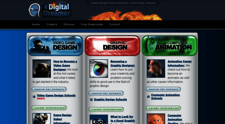 Visit Adigitaldreamercom Graphic Designer Career Information - Online video game design schools