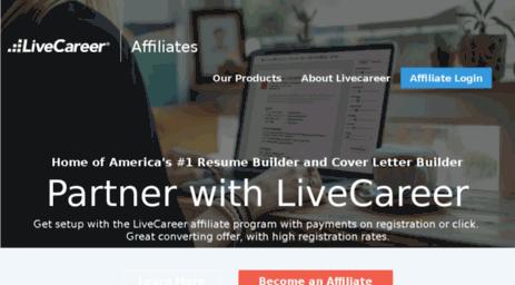 visit affiliatelivecareercom affiliates livecareer affiliate