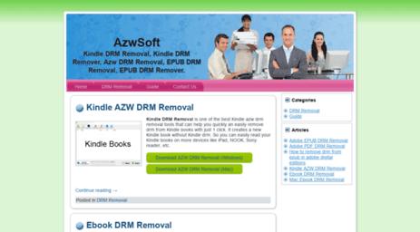 Visit Azwsoft com - AzwSoft, Kindle DRM Removal, Kindle DRM Remover