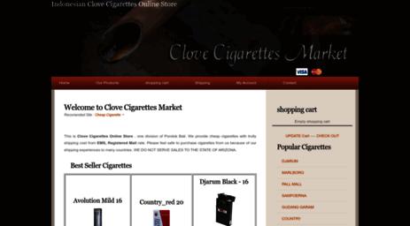 Visit Clovecigarettesmarket Com Clove Cigarettes Online Store
