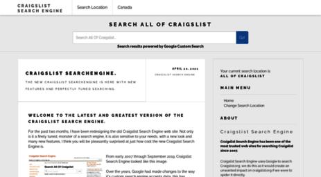 visit craigslist thingweb com craigslist search engine all of