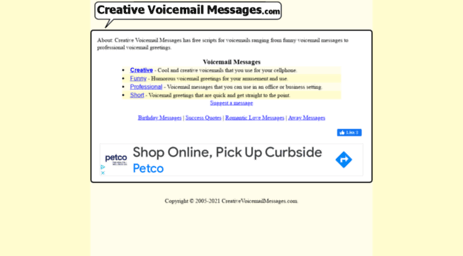 Visit creativevoicemailmessages creative voicemail messages creativevoicemailmessages the best creative and funny voicemail messages along with professional voicemail greetings m4hsunfo