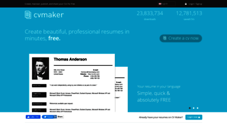 visit cvmkr com create professional resumes online for free cv
