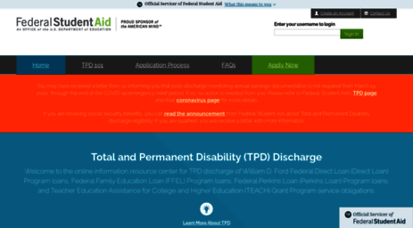total permanent disability discharge application