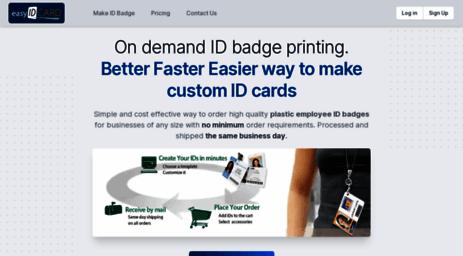 visit easyidcard com online id badge maker get custom photo id