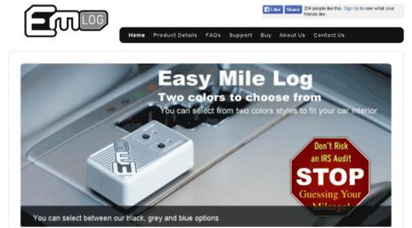 visit easymilelog com mileage deduction mileage log book mileage