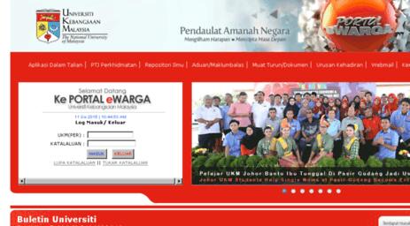Visit Ewarga2 Ukm My Portal Ewarga Universiti Kebangsaan Malaysia