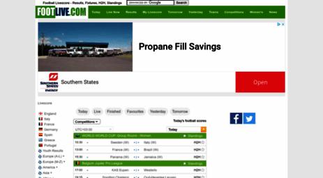 Visit Footlivecom Footlivecom Soccer Live Scores