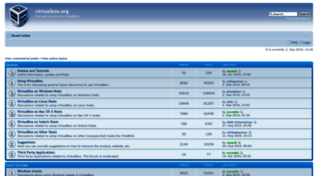 Visit Forums virtualbox org - Virtualbox org • Index page