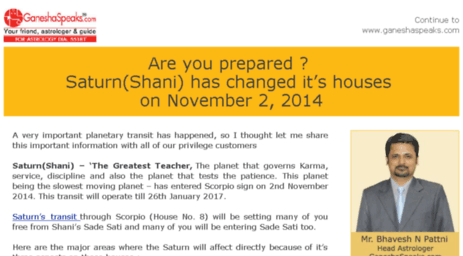horoscopes ganesha speaks