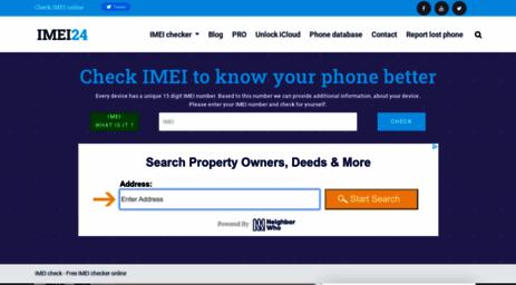 Visit Imei24.com - IMEI check - Free IMEI checker online