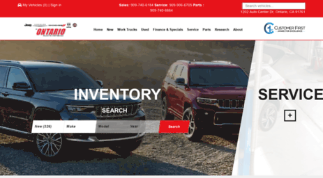 Buy New Or Used Cars At Jeep Chrysler Dodge Ram, In The Ontario Auto  Center, Convenient To Metro Los Angeles. You Will Always Save More At Our  Pomona, ...