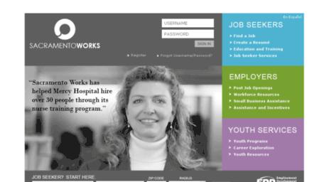 Visit Jobs.sacramentoworks.org - CalJOBS.