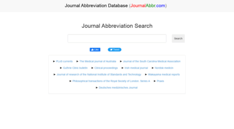 Journal Abbreviation Database And ISSN Search Tool Abbreviations Of Over 25500 Journals Were Included