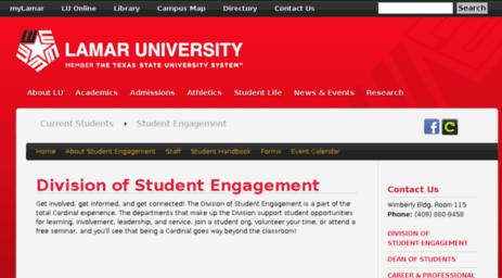 Visit Lamar.orgsync.com - Student Engagement | Lamar University.
