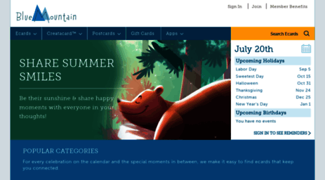 Landingbluemountain Visit Blue Mountain For Free Ecards And Printable Cards Birthday