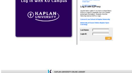 Visit Lib Kaplan Edu Kaplan Online Library Login