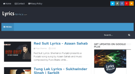 Visit Lyricsvrics com - Hindi Punjabi Songs Lyrics and Video