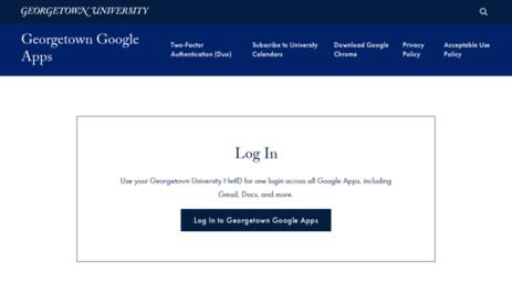 Visit Mail Georgetown Edu Georgetown Google Apps Georgetown