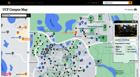 Map Of Orlando Florida.Visit Map Ucf Edu Ucf Campus Map Orlando Fl