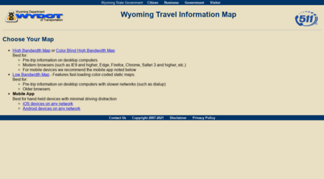 Visit Map.wyoroad.info - Wyoming Travel Information Map - Choose ...