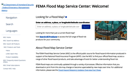 Visit Mscfemagov FEMA Flood Map Service Center Welcome - Fema map search