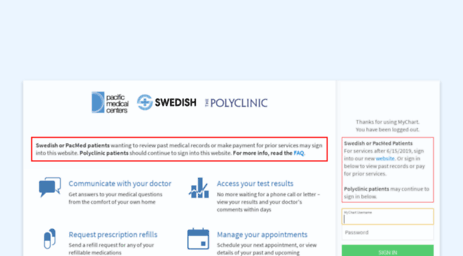Visit Mychart.swedish.org - MyChart - Application Error Page.