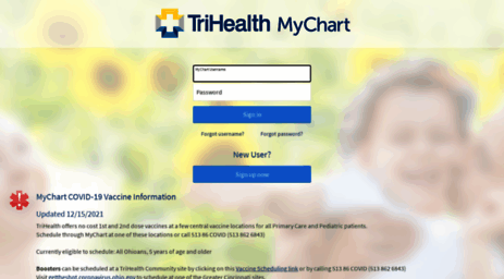 Visit mychart trihealth com mychart application error page