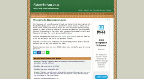 Visit Naamkaran com - Indian Hindu Baby Names with baby name origin