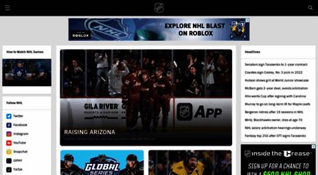 Visit Nhle Com Official Site Of The National Hockey League Nhl Com
