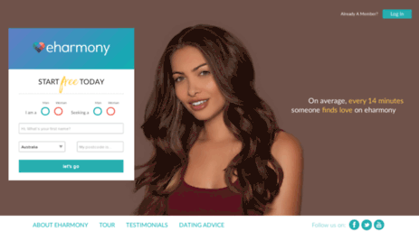 Eharmony login full site australia