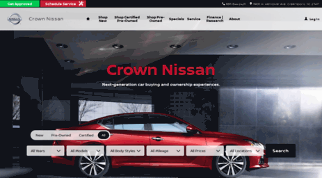 Nissanofgreensboro.com: Crown Nissan | New Nissan Dealership Serving  Greensboro, High Point, Winston Salem, NC Online