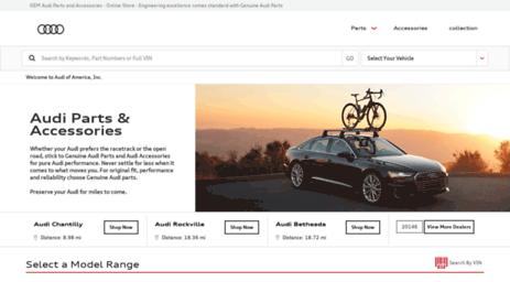 Visit Partsaudiusacom Audi Parts And Audi Accessories Shop The - Audi parts online