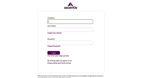 ascentis self service login