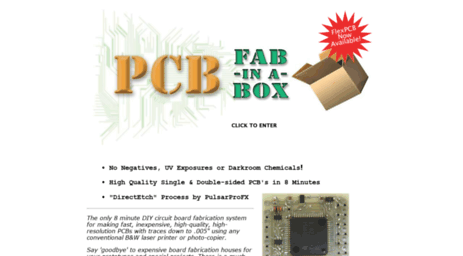 Visit Pcbfx.com - Make Your Own Printed Circuit Boards In 8 Minutes!.