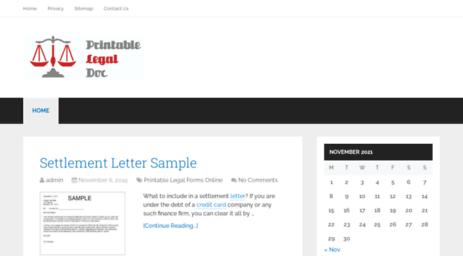 Visit Printablelegaldoc Com Sample Printable Legal Forms For