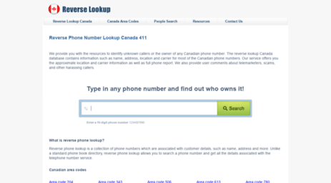 411 phone number reverse lookup