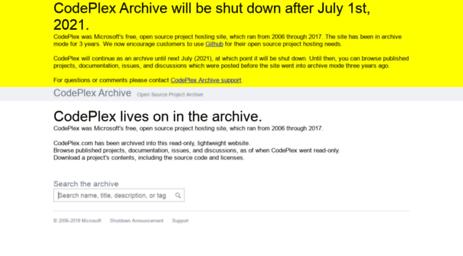 visit sitemaps codeplex com codeplex archive