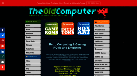 Visit Theoldcomputer.com - The Old Computer is home to old computer and  console games,Roms,Emulators,Manual....
