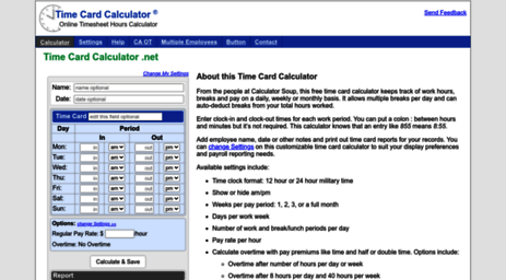 online time card calculator