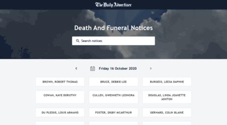 Wagga wagga death notices