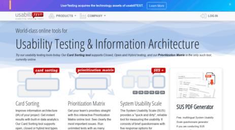 Visit Usabilitest com - Usability testing: Card Sorting