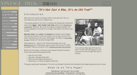 2d0b5dafa4c vintage-trek.com. This site's purpose is to gather and disseminate  information, for fellow bicycle enthusiasts, about steel-framed road bikes  made by the ...