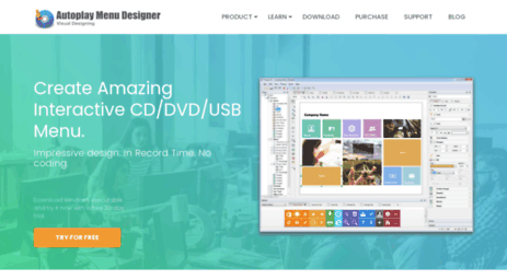 visit visualdesigning com autoplay menu designer create own