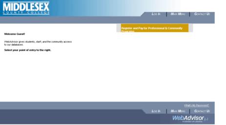 webadvisor middlesex county college