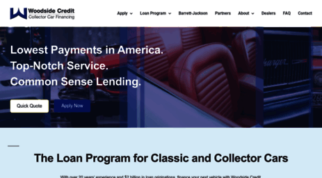 Visit Woodsidecreditcom Classic Car Financing Exotic And - Classic car financing