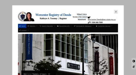 Visit Worcesterdeeds Com Worcester Registry Of Deeds Welcome To