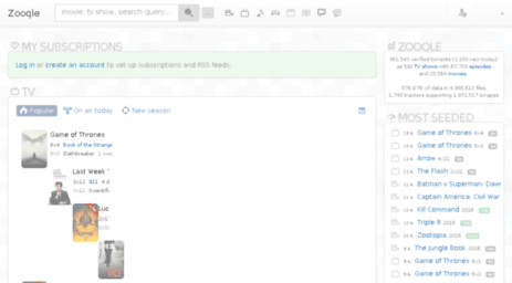 Visit Zooqle com - Start | Zooqle: Verified torrents