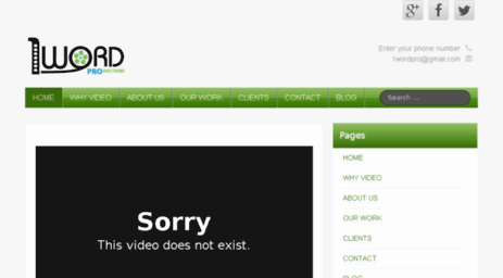 Visit 1wordpro com - 1Word Pro, Calgary Video Productions